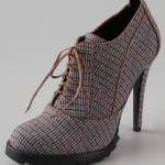 Smart and Sexy: Tweed Lace Up Booties from Mexican Brand Plomo