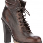 Vintage-Style Stacked Heel Hiking Boots on Farfetch!
