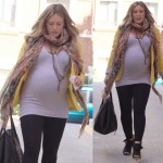 Hilary Duff Is Mellow in a Yellow Blazer and Maison Martin Margiela Open-Toe Booties