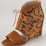Leopard-Print Wedge Booties for Spring!