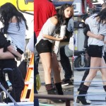 Spotted: Selena Gomez Cute and Cuddly with Justin Bieber on Set