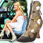 "Carrie Underwood in Miu Miu Flower Boots in the ""Glamour"" June 2012 Issue"