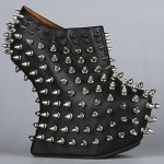 If Boots Can Kill: Jeffrey Campbell Spiked Heel-Less Booties from Karmaloop!