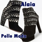 "Boot Battle: Azzedine Alaia Stud and Zip Ankle Boots vs. Pelle Moda ""Palm"" Studded Booties"