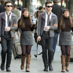 "Spotted: Lea Michele Sports Some Sturdy Leather Boots on the ""Glee"" Set!"