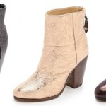 Holiday Must-Haves: Add Some Sparkle and Shimmer to Your Holiday Look with Metallic Booties c/o Rag & Bone