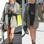 Ashley Tisdale's Leggy, Wintry-Chic Holiday Shopping in Beverly Hills