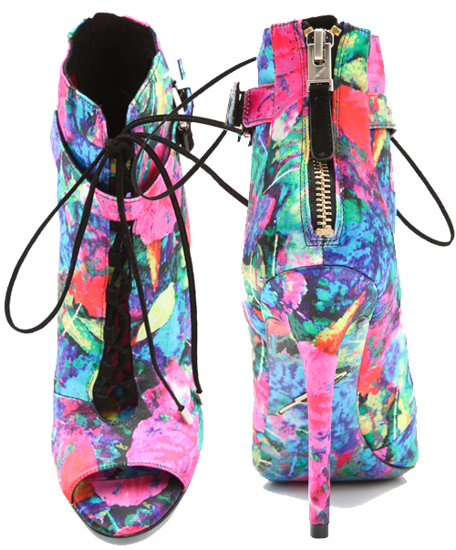 B Brian Atwood Linford Floral Booties3