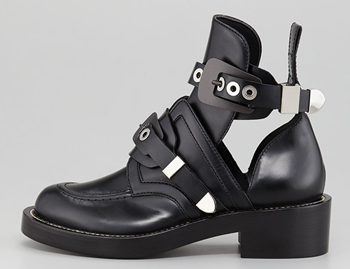 Balenciaga Cutout Buckled Booties1