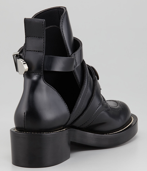 Balenciaga Cutout Buckled Booties2