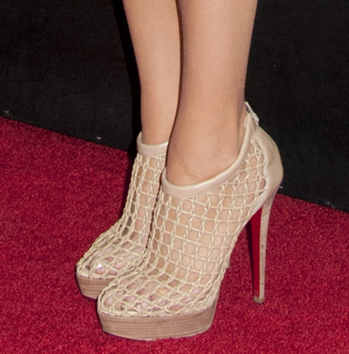 Blake Lively in Christian Louboutin Coussin Cage Ankle Boots