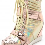 Your New Year Shoes: Boutique 9's Pink-and-Gold Wedge Sneakers