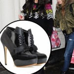 Cheryl Cole Is Wintry Chic in Acne Ace Boots at BBC Radio 1 Guesting