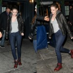 Kristen Stewart Rocks in a Pair of Red Combat Boots