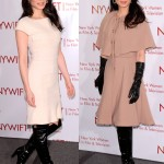 Lucy Liu in Stuart Weitzman Knee-High Boots at the 2012 New York Women in Film and Television Muse Award