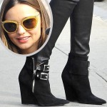 Miranda Kerr Busts Out Another One of Her Biker Babe Black Booties