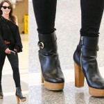 Airport Fashion: Emilia Clarke Trades Her Medieval Look for a Sexy All-Black Ensemble at LAX