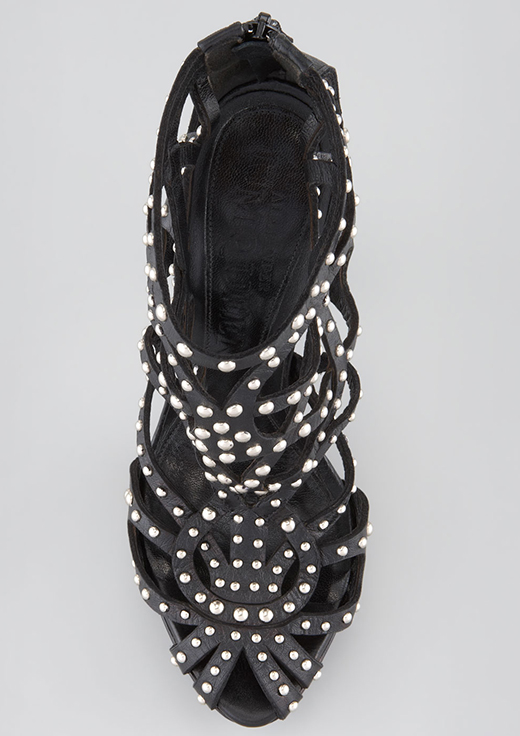 Alexander McQueen Studded Leather Cage Bootie2