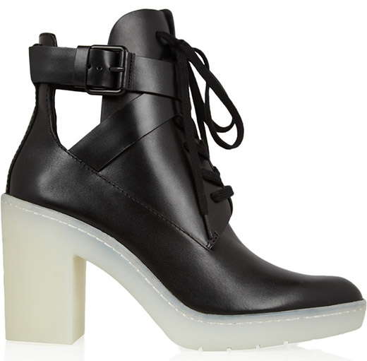 Alexander Wang Leather Lace-Up Boots1