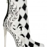 Eye-Catching Checked Guipure Lace Boots from Balmain for $1,652