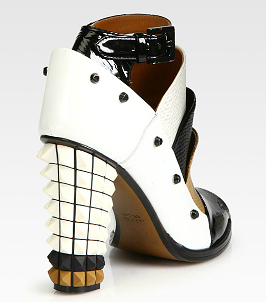Fendi Polifonia Leather Spiked-Heel Ankle Boots1