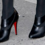 "Jennifer Lawrence in Christian Louboutin ""Miss Zorra"" Booties at the ""Late Show with David Letterman"""