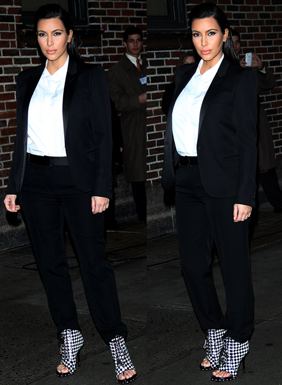 Kim Kardashian at Ed Sullivan Theater for 'The Late Show with David Letterman'