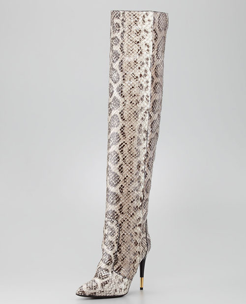 Tom Ford Over the Knee Anaconda Boot