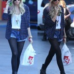 Ashley Tisdale Is Hipster Chic in Strap-Embellished Ankle Boots