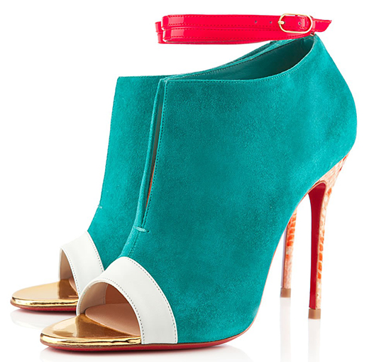 Christian Louboutin Diptic Booties in Caraibes Suede Python